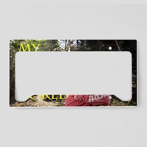 JesseBrowning3distort2 License Plate Holder