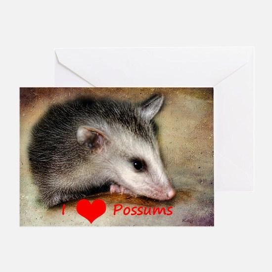 Possum Grunge Greeting Card