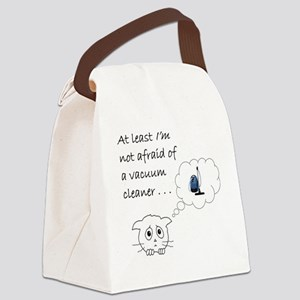 vacuum cat Canvas Lunch Bag