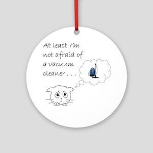 vacuum cat Round Ornament