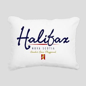Halifax Script W Rectangular Canvas Pillow