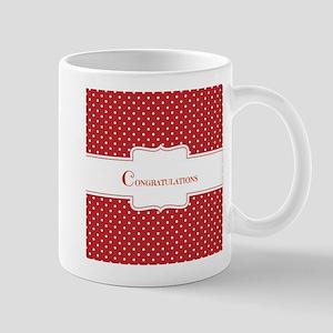 Red Polka Dot Congratulations Mugs