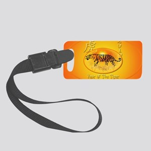 Year Of The Tiger 2010-oval_stic Small Luggage Tag