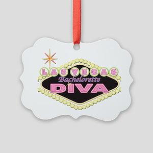 las vegas diva black logo front Picture Ornament