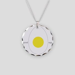 Good Egg Necklace Circle Charm