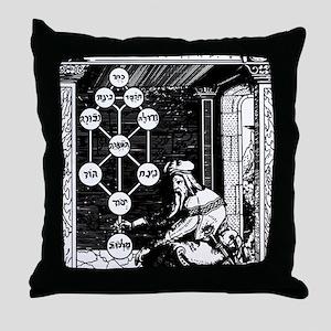 Gikatilla - white Throw Pillow