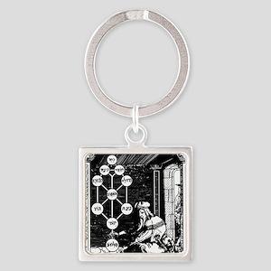 Gikatilla - white Square Keychain