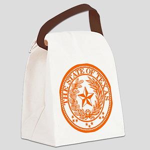 TXorangeseal Canvas Lunch Bag