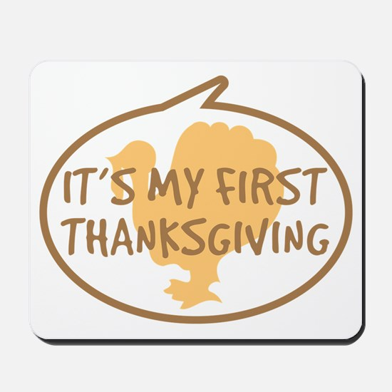 Babys First Thanksgiving Mousepad