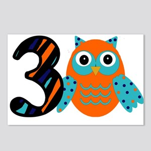 Birthday Boy Owl with a 3 Postcards (Package of 8)