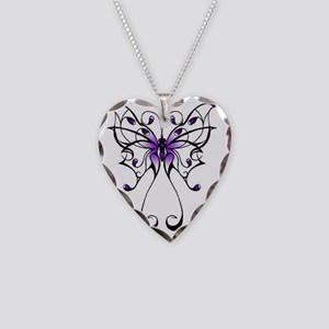 Lupus Butterfly Necklace Heart Charm