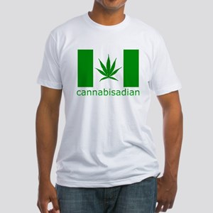 Cannibisadian Fitted T-Shirt