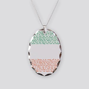 ssi song Necklace Oval Charm