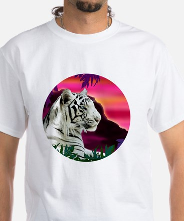whitetiger1 White T-Shirt