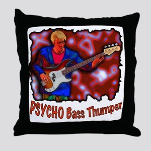 PsychoBass copy Throw Pillow