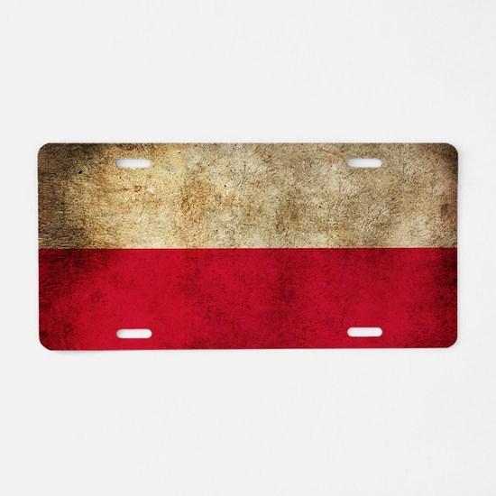 Polsk Aluminum License Plate
