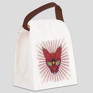 Starburst sugar Egyptian cat Canvas Lunch Bag