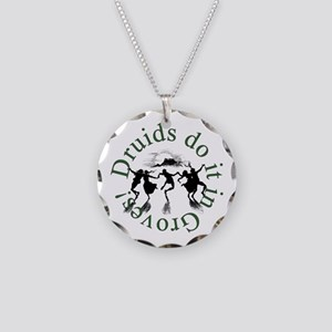 Druids Do It In Groves Necklace Circle Charm