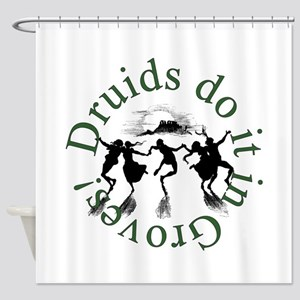 Druids Do It In Groves Shower Curtain