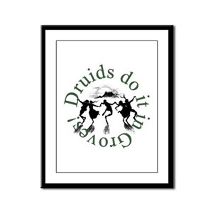 Druids Do It In Groves Framed Panel Print