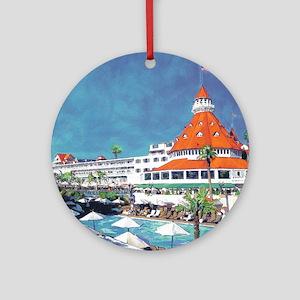 Hotel Del by RD Riccoboni 9x12 Round Ornament