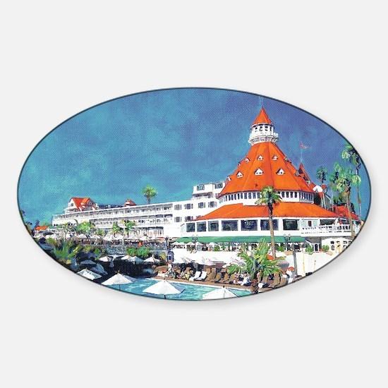 Hotel Del by RD Riccoboni 9x12 Sticker (Oval)
