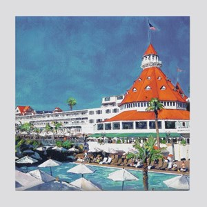 Hotel Del by RD Riccoboni 9x12 Tile Coaster
