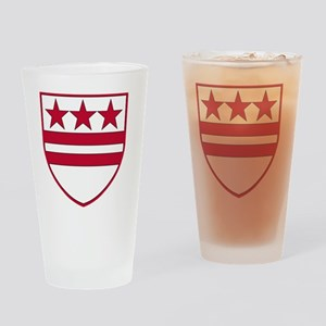 George Washingtons Coat of Arms Drinking Glass