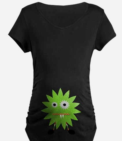 Adorable Boy Monster Maternity T-Shirt