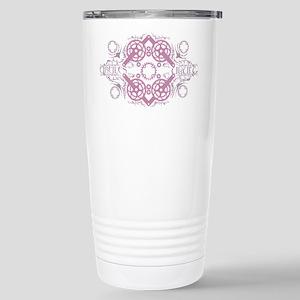circles_pink Stainless Steel Travel Mug