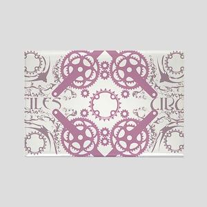 circles_pink Rectangle Magnet