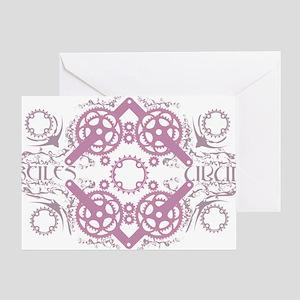 circles_pink Greeting Card