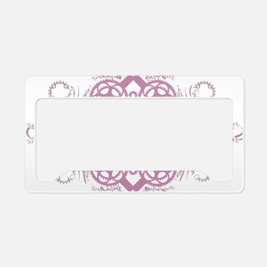 circles_pink License Plate Holder