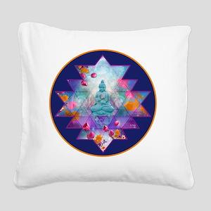 cosmic_Sri_Yantra2 Square Canvas Pillow