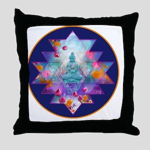 cosmic_Sri_Yantra2 Throw Pillow