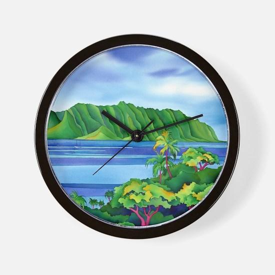 KaneoheBayMousepad Wall Clock