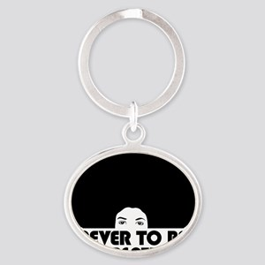 afro_forgotten_white_shirt Oval Keychain