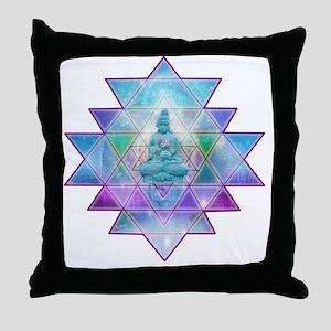 cosmic_Sri_Yantra1 Throw Pillow