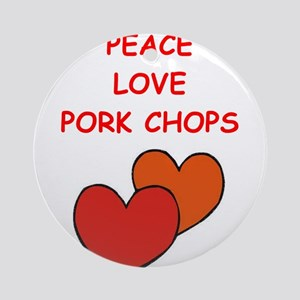 pork,chop Ornament (Round)