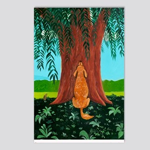 tree prayer poster Postcards (Package of 8)