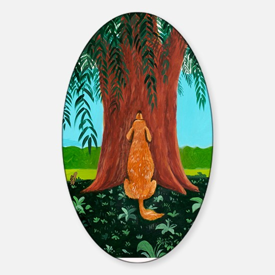tree prayer poster Sticker (Oval)