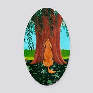tree prayer poster Oval Car Magnet