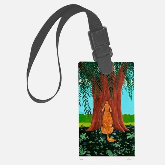 tree prayer poster Luggage Tag