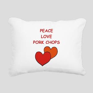 pork,chop Rectangular Canvas Pillow
