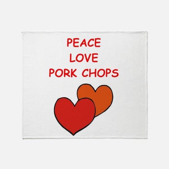 pork,chop Throw Blanket