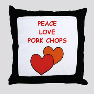 pork,chop Throw Pillow