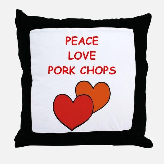 pork,chop Throw Pillow