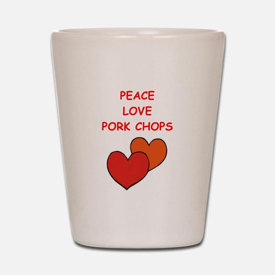 pork,chop Shot Glass