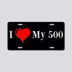 Love My 500 Aluminum License Plate