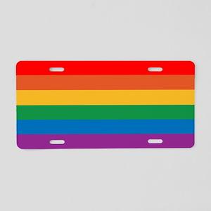Gay Pride Aluminum License Plate